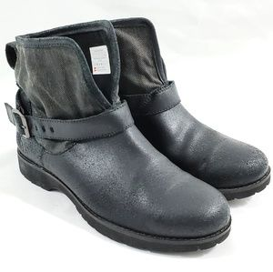 The North Face Women's Black Leather Ankle Booties